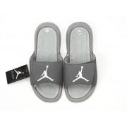 Nike Air Jordan Hydro IV Pantoufle - Autocollants magiques Sandals Gris/argent Pas Cher Pour Homme