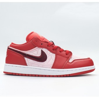 "Air Jordan 1/AJ1 Low (GS) ""Pink Quilt"" Nike Air Jordan Baskets Pour Femme DB3621-600"