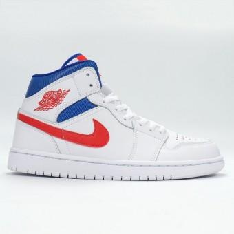 Air Jordan 1 Retro Mid 2021 - Chaussure Nike Baskets Jordan Pas Cher Pour Homme BQ6472-164 Blanc Orange