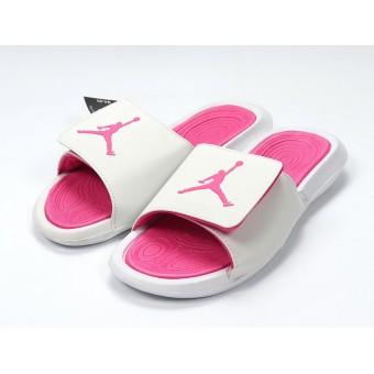 Air Jordan Hydro IV - Nike Jordan Claquette/Sandals Pink blanche Pour Femme