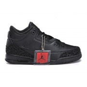 Air Jordan 3 Retro - Basket Jordan Pas Cher Chaussure Pour Petit Garcon Noir