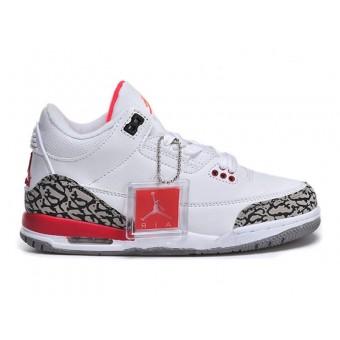 Air Jordan 3 Retro - Basket Jordan Pas Cher Chaussure Pour Petit Garcon Noir/Blanc/Rouge