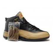 Air Jordan 12 Retro Chaussures Jordan Basket Pour Homme Noir/Or