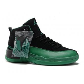Air Jordan 12 Retro Chaussures Jordan Basket Pour Homme Noir/Vert