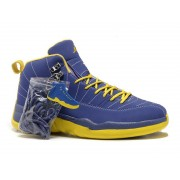 Air Jordan 12 Retro Chaussures Jordan Basket Pour Homme Bleu/Jaune