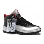 Air Jordan 12 Retro Chaussures Jordan Basket Pour Homme Noir/Argent/Rouge