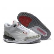 Air Jordan 3 Retro - Basket Jordan Pas Cher Chaussure Pour Femme Blanc/Gris
