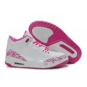 Air Jordan 3 Retro - Basket Jordan Pas Cher Chaussure Pour Femme/Fille Blanc/Pink