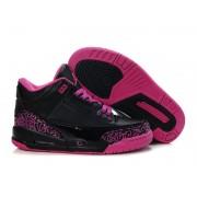 Air Jordan 3 Retro - Basket Jordan Pas Cher Chaussure Pour Femme/Fille Noir/Rose