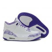 Air Jordan 3 Retro - Basket Jordan Pas Cher Chaussure Pour Femme/Fille Blanc/Violet