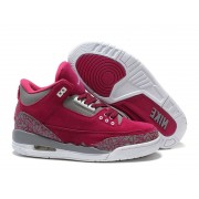 Air Jordan 3 Retro - Jordan Basket Pas Cher Chaussure Pour Femme Anti-fourrure/Rose