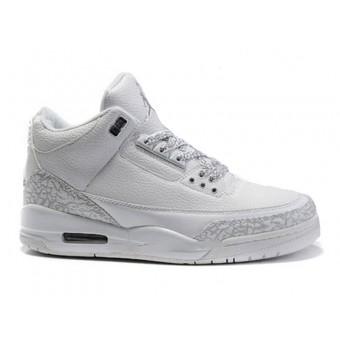 Air Jordan 3 Retro - Basket Jordan Chaussures Pas Cher Pour Homme Blanc