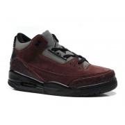 Air Jordan 3 Retro - Basket Jordan Anti-Fourrure Chaussures Pas Cher Pour Homme Brun