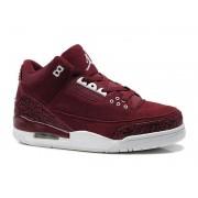 Air Jordan 3 Retro - Basket Jordan Anti-Fourrure Chaussures Pas Cher Pour Homme Rouge