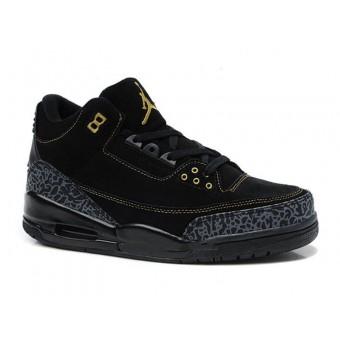 Air Jordan 3 Retro - Basket Jordan Anti-Fourrure Chaussures Pas Cher Pour Homme Toute Noir
