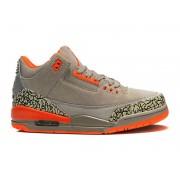 Air Jordan 3 Retro - Basket Jordan Anti-Fourrure Chaussures Pas Cher Pour Homme Gris/Orange