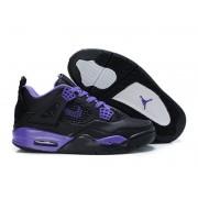 Air Jordan 4 Retro - Basket Jordan Chaussures Pas Cher Pour Femme Noir/Violet