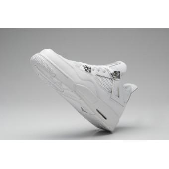 Air Jordan 4 Retro - Basket Jordan Chaussures Pas Cher Pour Femme Blanc