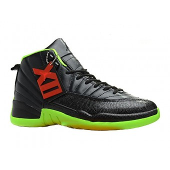 Air Jordan 12/XII Retro 2013 - Black/Neon Green Collection Chaussures Jordan Pour Homme