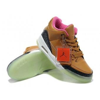 Air Jordan 3 (III)Threezy Pack(DeJesus Customs) Chaussures Jordan 2013 Pour Homme