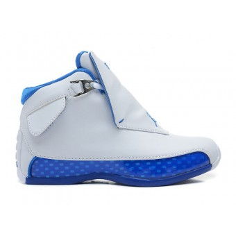 Air Jordan 18 Blanc / Sport royale 305869-101