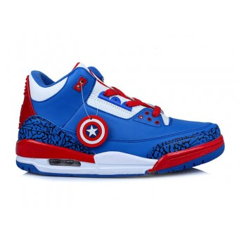 Nike Air Jordan 3/III Retro Blanc True Blue(136064-ID4)