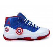 Air Jordan 11/XI Retro 2014 Custom Captain America(378037-ID9)