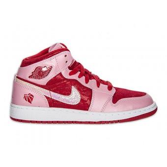 Air Jordan 1/I Mid Premium GS - Baskets Nike Air Jordan Pas Cher Pour Femme/Fille