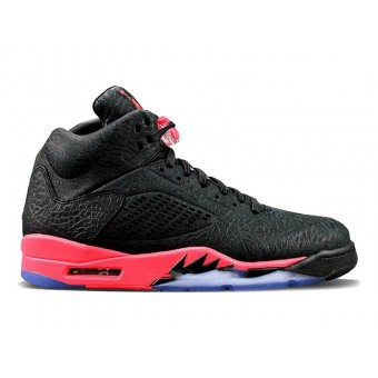 Nike Air Jordan V 5 3LAB5 infrarouge Noir Rouge(599581-010)