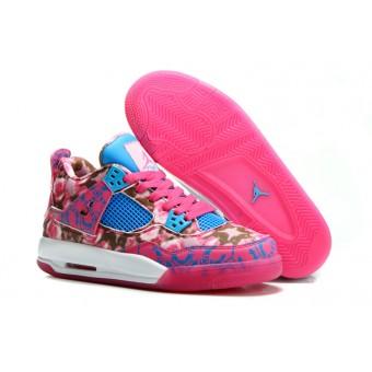 2014 Air Jordan 4 Retro Femme chaussures en édition limitée rose 36-40