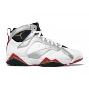 Air Jordan 7 Retro Chaussures Pour Femme Blanc/Rouge/argent Boutique Jordan Femme