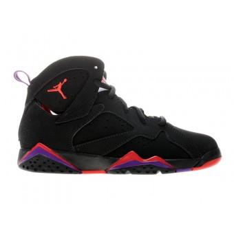 Air Jordan 7 Retro Chaussures Pour Femme Noir Rouge Violet Chaussures Jordan
