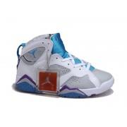 Air Jordan 7 Retro Chaussures Pour Femme Blanc/Gris/Bleu jordan 7 bordeaux