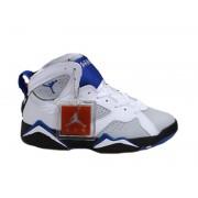 Air Jordan 7 Retro Chaussures Pour Femme Blanc/Noie/Bleu Jordan Femme France
